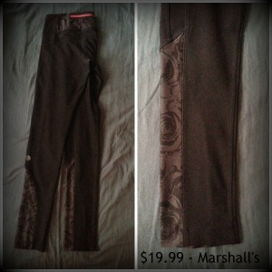 Black Rose Marshalls running pants
