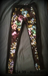 Color flower Marshalls running pants
